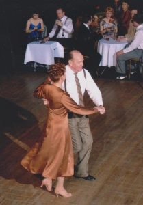 Esther and partner enjoy dancing quickstep, in follow soul's normal desires