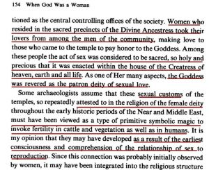 When God Was a Woman p 154 goddess deity posted in 'In the Name of God'