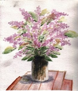 Art by Esther Lovely Lilacs in Lethbridge-web