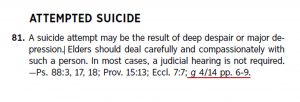 Attempted Suicide clip from elder's manual posted in 'Depression and Suicide in Religion'