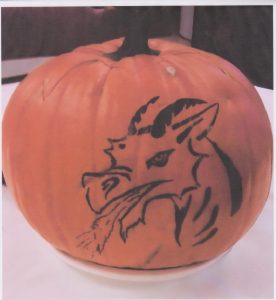 Dragon Pumpkin Art by Esther posted in Pagan Events then and now