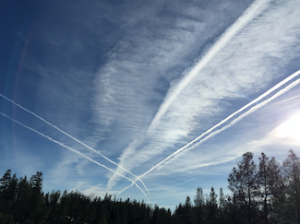 Geo-engineering the skies, courtesy of geoengineeringwatch.org and posted on Love, Light, and song