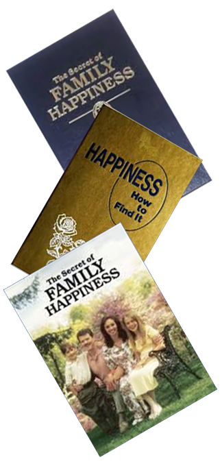 Religion in the business of selling happiness and here's the literature to prove it!