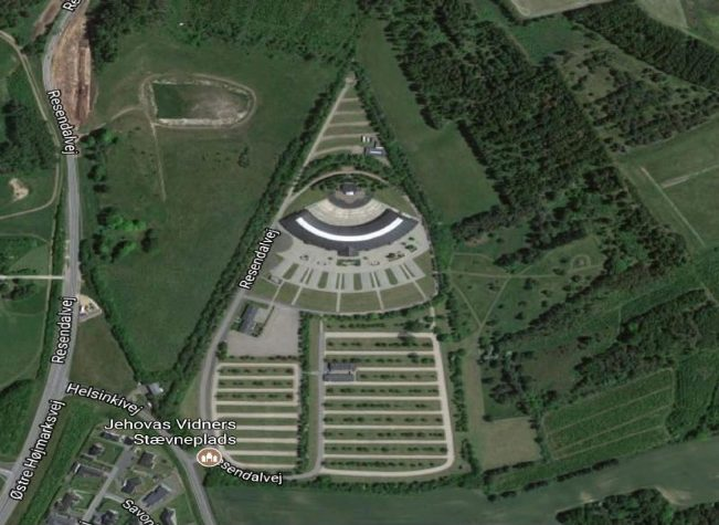 Jehovah's Witness convention site in Denmark with eye of Horus and pyramid was sold in 2017. Posted in Is Happiness a Commodity?