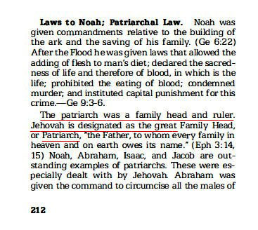 Jehovah the Great Patriarch
