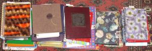 """Journals used during the writing of """"Phoenix of Faith"""""""