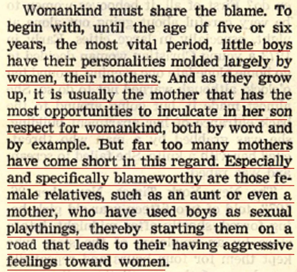 March 8 1974 Awake! p15 Women blamed for raising rapists in When Faced with the Threat of Rape in 'Commentary on Jehovah's Witnesses'