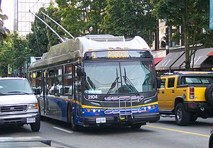 Vancouver Trolley Bus via Wikipedia on kindness of strangers