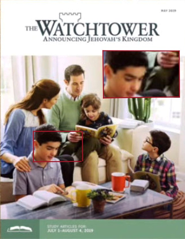 Hidden images in Watchtower publications: Watchtower Cover May 2019 see horned devil in inset