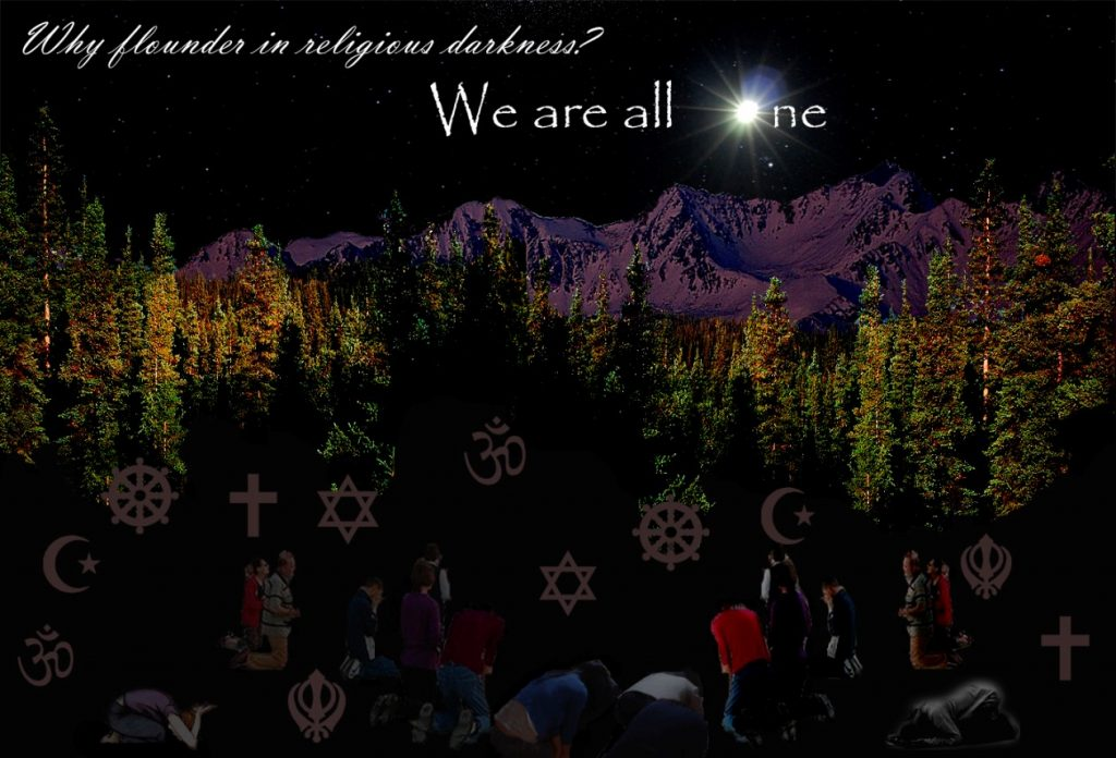 'We are All One' posted in