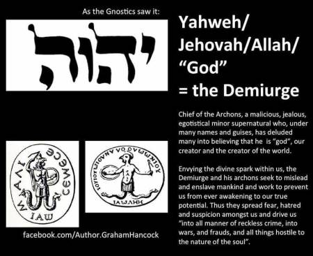 YHWH Jehovah is Demiurge in Human Blood Sacrifice