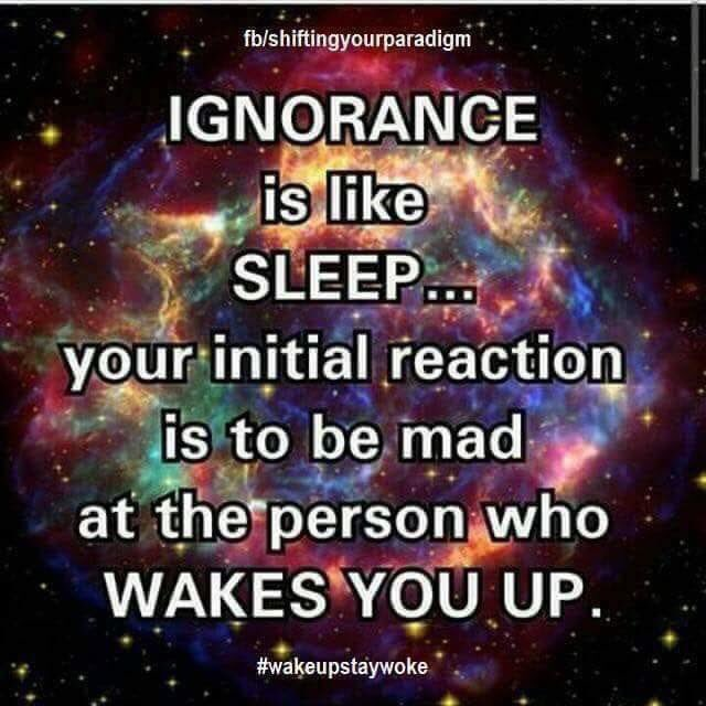 ignorance is like sleep. Folks, protect your children from indoctrination by Jehovah's Witnesses.