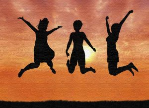 leaping for joy. address health challenges using intuition